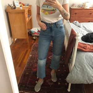 Madewell two tone jeans